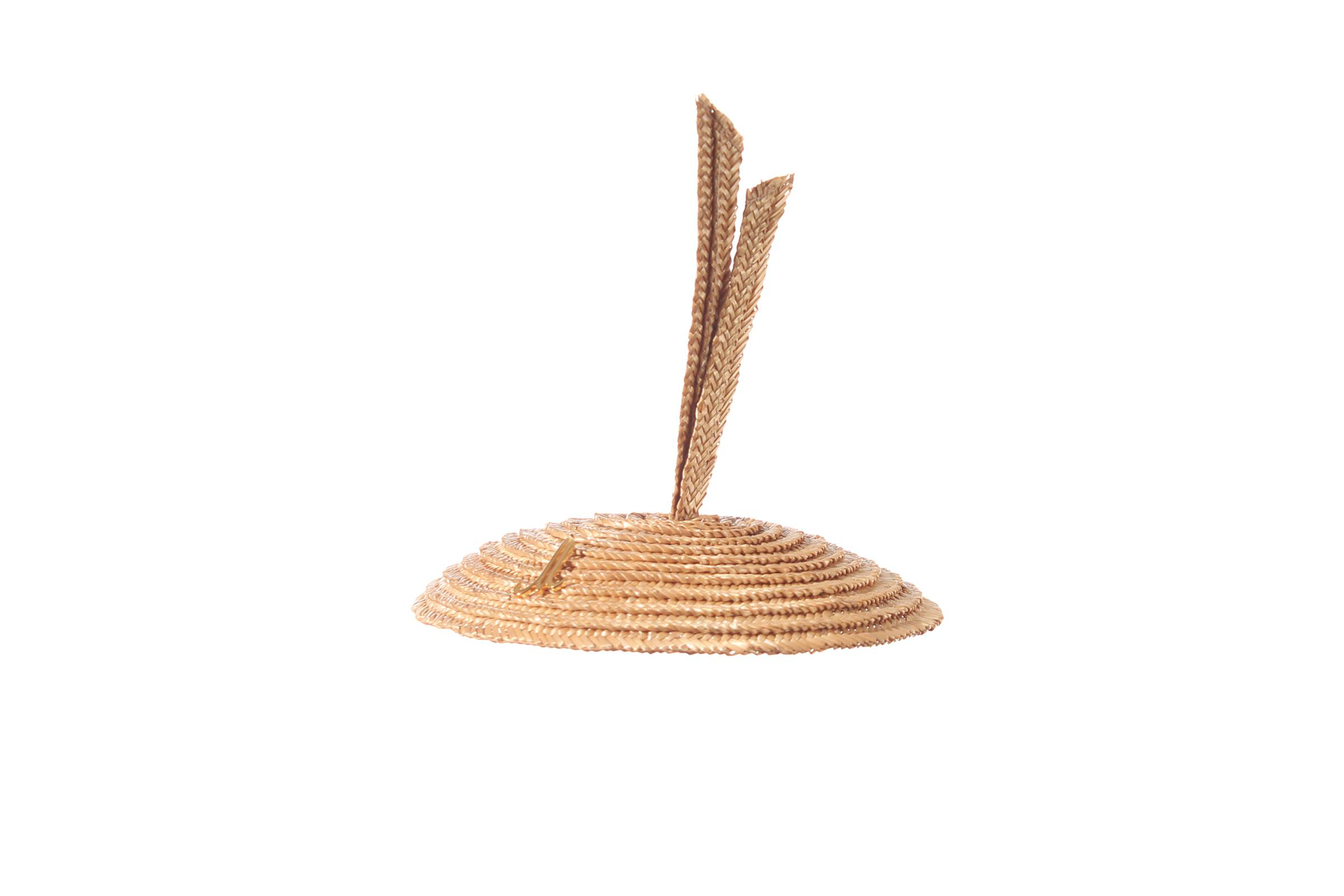 kippa ALBINE rice straw braid