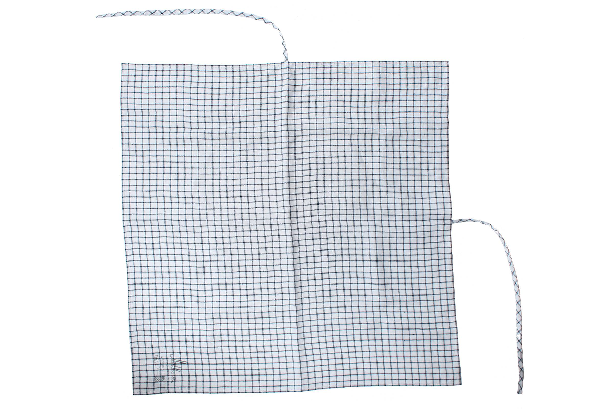 square scarf TWIST linen checked