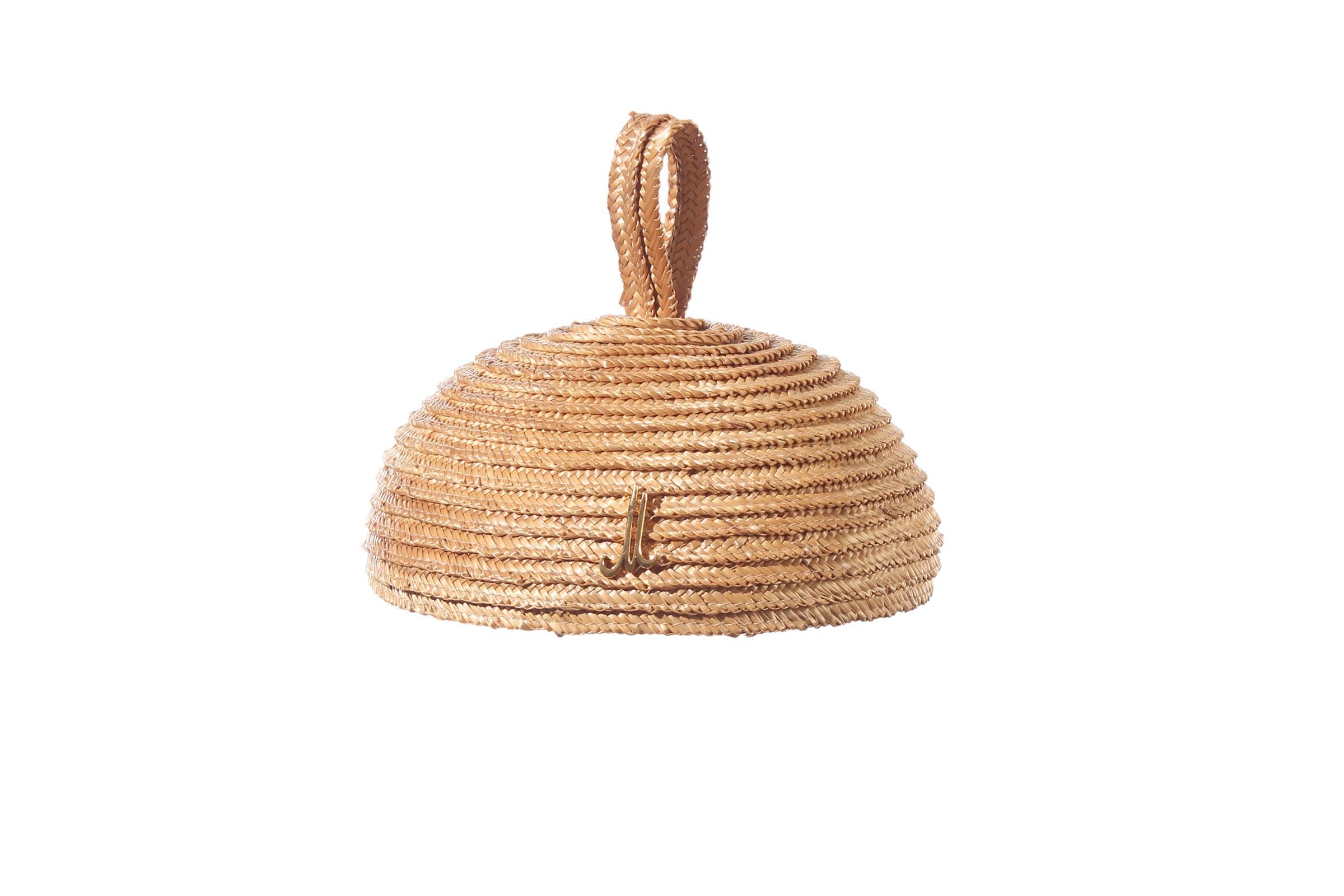pillbox ADELE rice straw braid