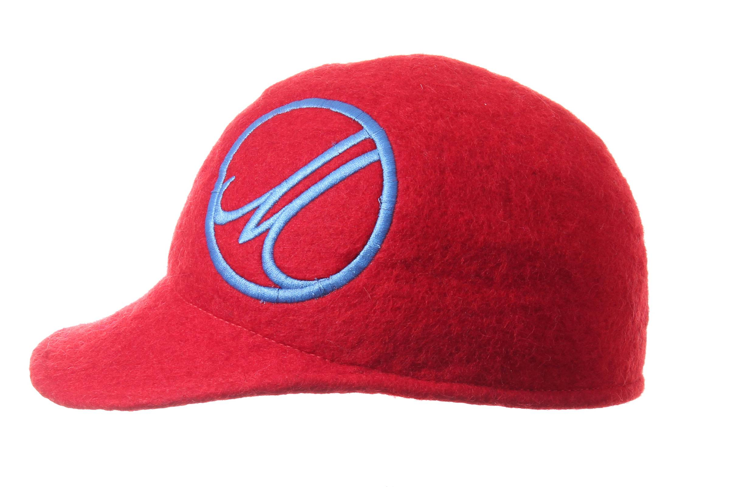 cap BAZ hand felted wool / EMBROIDERY