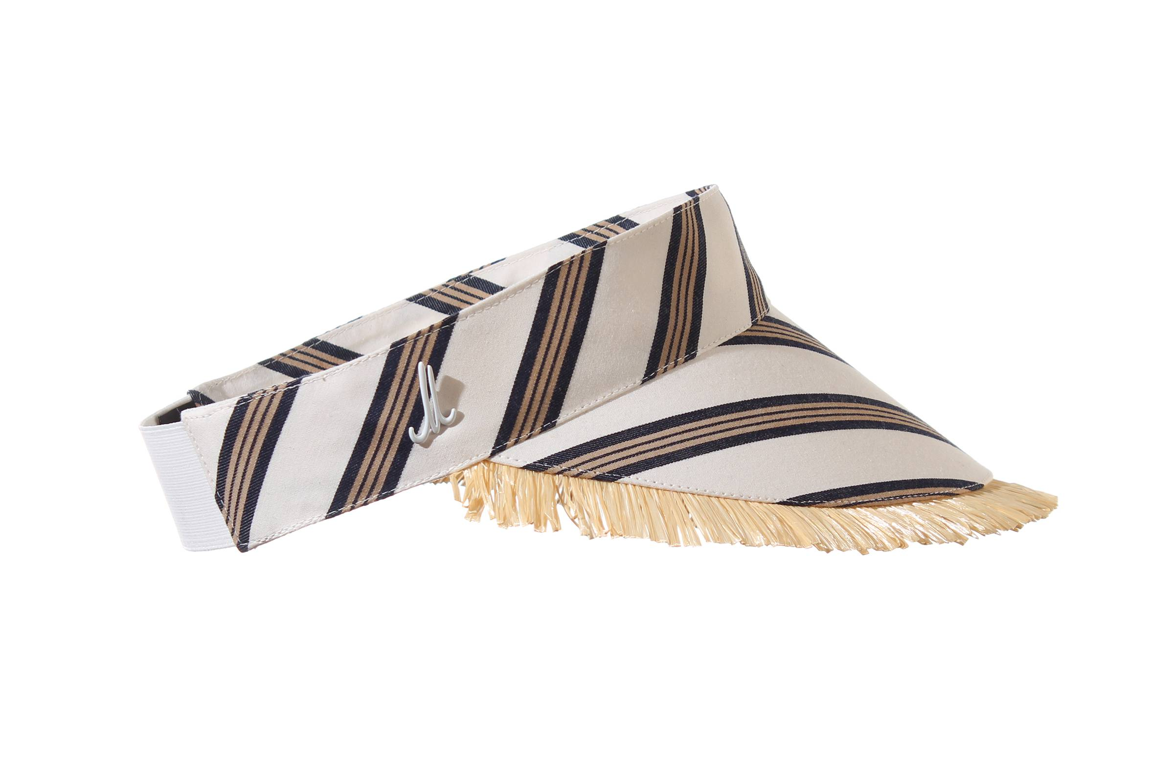 visor MELLI cotton multistripe / fringes