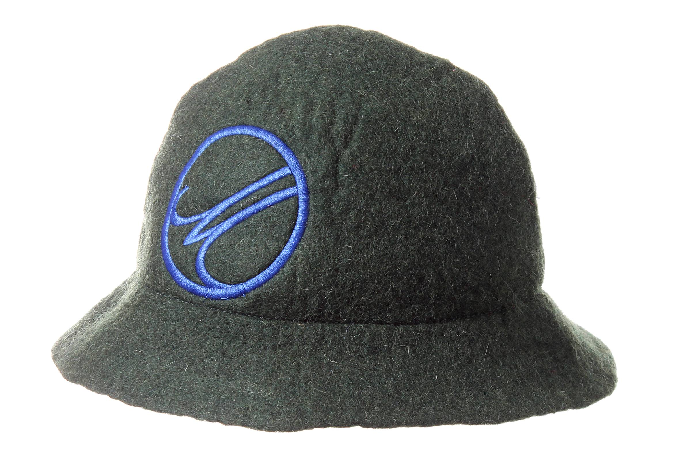 bucket hat RAM hand felted wool / EMBROIDERY