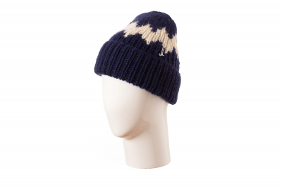 fold-up beanie LORIS lambswool hand-knitted / lambswool hand-knitted
