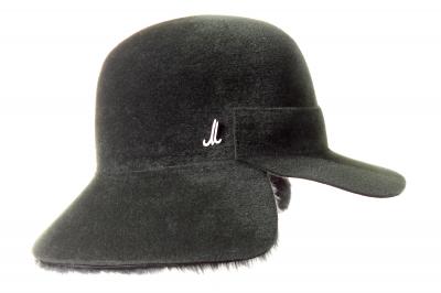 hat cap DUGI velvet felt / lamb skin