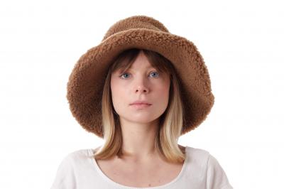 bucket hat LYDIA sherpa wool