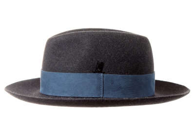 gentleman's hat DUKE fur felt / NUBUCK LEATHER BAND