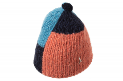 Mütze NERON Babyalpaka/Leinen handgestr.