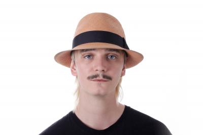 Herrenfasson (Lederband) GIL Panamastroh