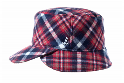 hat cap MADS cotton flannel checked / cotton flannel checked