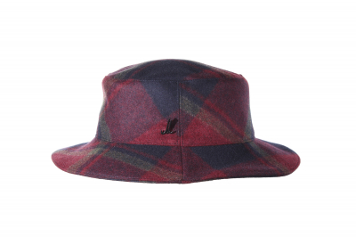 bucket hat JOS loden checked
