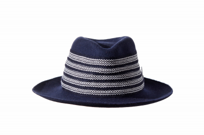 gentleman's hat ART UDO wool felt light / costume braid