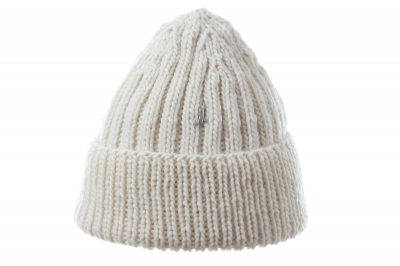 fold-up beanie LENNON lambswool hand-knitted