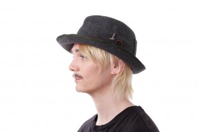 gentleman's hat GRAF THEO H wool felt light / cords