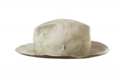 gentleman's hat UDO paper panama handpainted