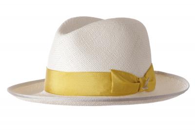 gentleman's hat UDO panama straw / ribbon